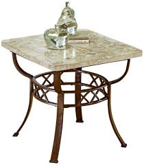 wrought iron end tables amazon com furniture brookside fossil end table metallic brown