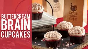 how to make brain cupcakes halloween cupcakes youtube