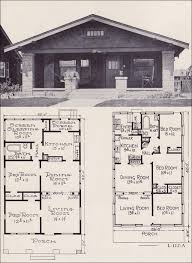 bungalow floorplans 1920s house plans by the ew stillwell co small economical