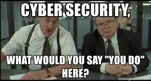 It Security Meme - cyber security what would you say you do here office space