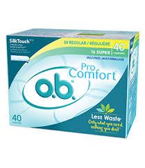 Colorado Comfort Products Non Applicator Light Flow Tampon O B Pro Comfort Regular