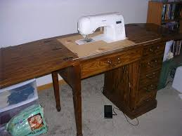 cheap sewing machine cabinets how to convert an old sewing cabinet or table to hold a new sewing