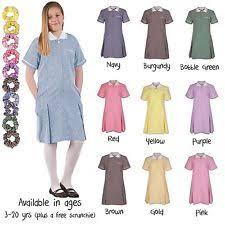 outlet girls gingham summer dress age 3 4 5 6 7 8 9 10 11