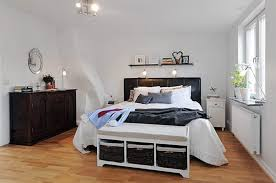 Floor To Ceiling Headboard Bedroom Bedroom Decor Idea With Black Bed Frame Designed With