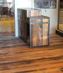 Reclaimed Wood Reception Desk Reclaimed Oak Reception Desk And Flooring At Grand Geneva Country