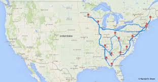 map usa this map shows the and ultimate road trip across america