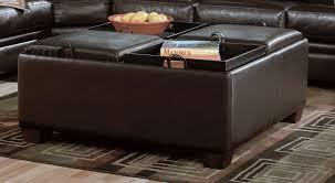 brilliant storage ottoman with tray leather tray top storage