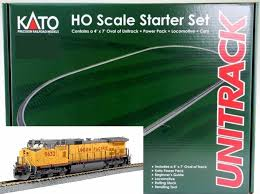 kato ho 302010 unitrack starter set with ge c44 9w and gunderson