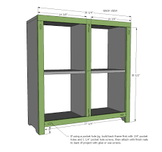 ana white 4 cubby bookshelf or nightstand diy projects