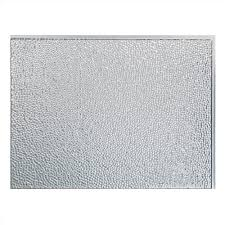 Aluminum Backsplash Kitchen Fasade 24 In X 18 In Hammered Pvc Decorative Backsplash Panel In