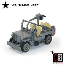 ww2 jeep custombricks de lego ww2 wwii wehrmacht willys jeep mit m416