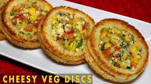 indian appetizers cheesy veg disc healthy baked appetizer indian bread appetizer
