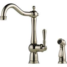 kitchen faucets for less delta faucets brizo tresa polished nickel single handle kitchen