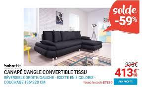 canapé rue du commerce bobochic canapé d angle convertible tissu 4 places nestor soldes