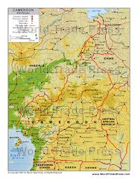 map of cameroon stockmapagency com maps of cameroon offered in poster print by
