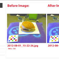 cuisine mobile occasion fig 2 view of the website with before and after images of an