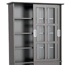 Media Cabinet With Sliding Doors Media Cabinet With Glass Door Island Media With Glass Doors