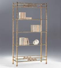 Brass Bookcase Brass Bookcase With Glass Shelves For Living Rooms Idfdesign