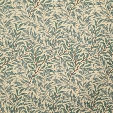 William Morris Wallpaper by Sandersons William Morris Willow Bough Green Curtain Fabric Sold
