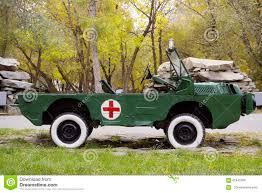 amphibious vehicle military amphibious vehicle luaz 967 in the military ambulance version