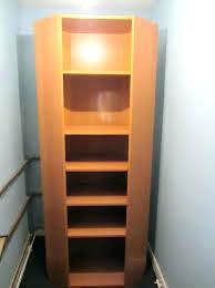Corner Bookcase Wood White Corner Bookshelf Wood Grain Melamine And White Corner