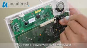 install a honeywell 6160 keypad youtube