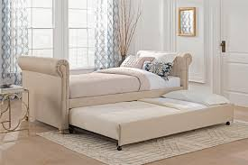 dhp furniture sophia upholstered daybed and trundle