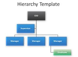 business hierarchy template company organization hierarchy