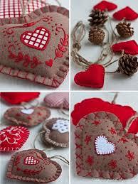 Fabric Decoration For Christmas by Fabric Heart Myself Sewing U2013 Cool Diy Ideas U2013 Fresh Design Pedia