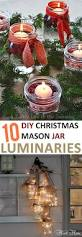10 diy christmas mason jar luminaries