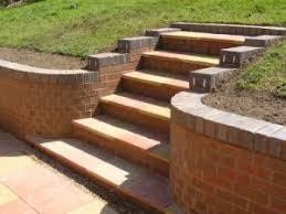 brick block and sleeper retaining walls garden pinterest