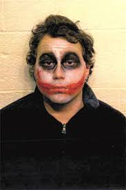 aaron chase dressed as the joker arrested for allegedly
