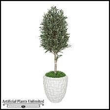 5 outdoor artificial olive tree with trunk