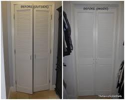 Slatted Closet Doors Remodelaholic Diy Mirrored Closet Door Makeover