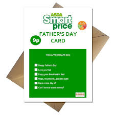 asda smart price fathers day card amazon co uk office products