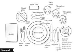 thanksgiving table setting or formal healthy eating organic