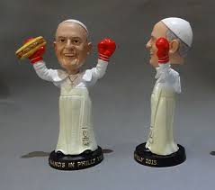 pope souvenirs someone made a pope bobblehead holding a cheesesteak phillyvoice