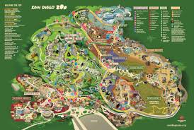 Map Of San Diego County by Map San Diego Zoo