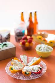 cuisiner concombre recette land recette de mini poivrons farcis au fromage frais