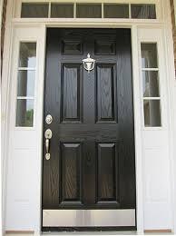 Exterior Door Kick Plate Another Front Door Option The Nickel Hardware And Kick Plate