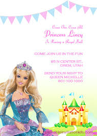 barbie invitation template barbie party invitations template