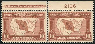 Map Of Louisiana Purchase Us Stamp Prices Scott 327 10c 1904 Louisiana Purchase Exposition