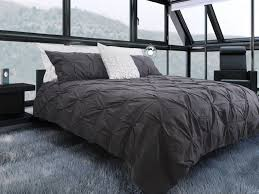 charcoal bedding victoria pintuck duvet cover set home apparel