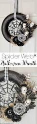 diy spider web halloween wreath a pumpkin and a princess