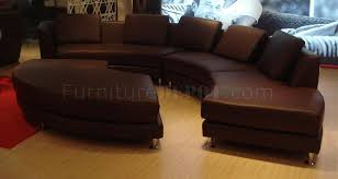 leather ultra modern modular 4pc sectional sofa espresso a94