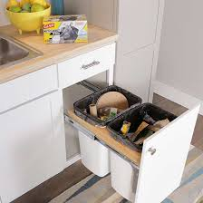 Kitchen Trash Cabinet Pull Out Create A Diy Pull Out Trash Cabinet