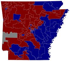 Arkansas Map Us Arkansas Voting Map Afputra Com