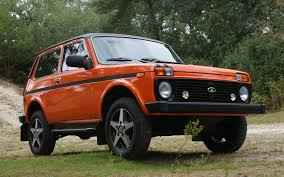 jeep suv 2013 lada 4x4 tsarina niva lada niva jeep suv front orange tuning
