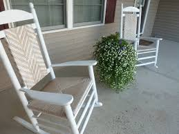 Furniture Wood Rocking Chair Wonderful White Pine Wood Rocking Chairs Which Adorned With Woven Seat And