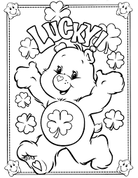 care bears coloring pages good luck coloringstar